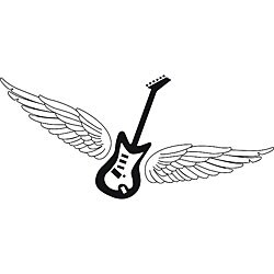 Design on Style 'Guitar with Wings' Vinyl Wall Art