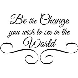 Design on Style 'Be the Change' Vinyl Wall Art Quote