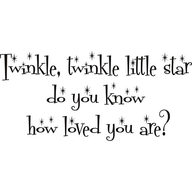 Shop Design on Style \'Twinkle Twinkle Little Star\' Vinyl Wall Art ...