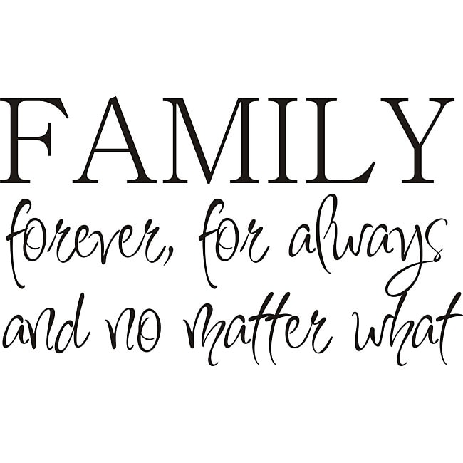 Free Shipping Family Is Vinyl Wall Lettering Quote Wall: Shop Design On Style 'Family Forever' Vinyl Wall Art Quote