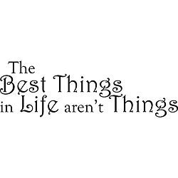 Design on Style 'Best Things in Life' Vinyl Wall Art Quote