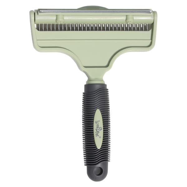 Love2Pet Two-in-one Plastic/Stainless Steel Jumbo Pet Grooming Brush