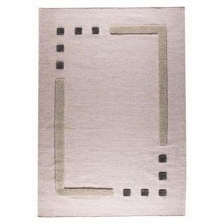 M.A.Trading Hand-woven Caracas Grey Wool Rug (5'6 x 7'10)