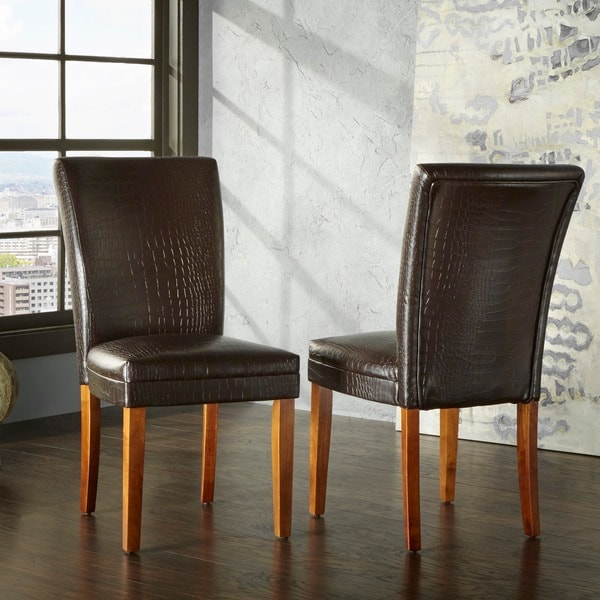 Shop TRIBECCA HOME Decor Faux Alligator Print Dining Chair