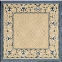 Safavieh Royal Natural/ Blue Indoor/ Outdoor Rug - 7'10