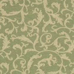 Safavieh Mayaguana Olive Green/ Natural Indoor/ Outdoor Rug (6' 7 Square) - Thumbnail 2