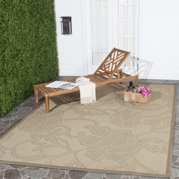 Safavieh Aruba Natural/ Brown Indoor/ Outdoor Rug (7'10 Square)