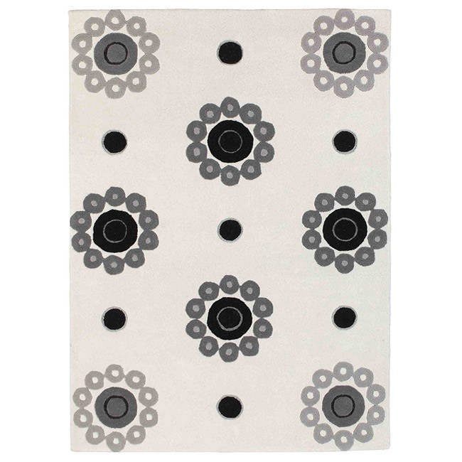 M.A.Trading Hand-tufted Como White Wool Rug (8'3 x 11'6) ...