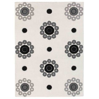 M.A.Trading Hand-tufted Como White Wool Rug (8'3 x 11'6) (India)