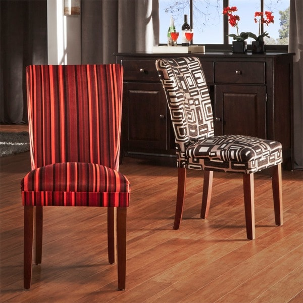 TRIBECCA HOME Decorative Parson Dining Chairs (Set of 2)