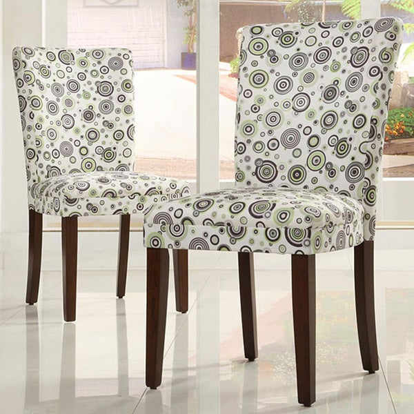 Tribecca Home Decor Bubble Print Dining Chairs (Set of 2)