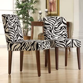 INSPIRE Q Calista Zebra Print Dining Chairs (Set of 2)