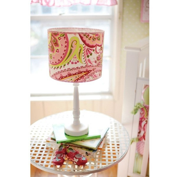 My Baby Sam Paisley Splash in Pink Lamp