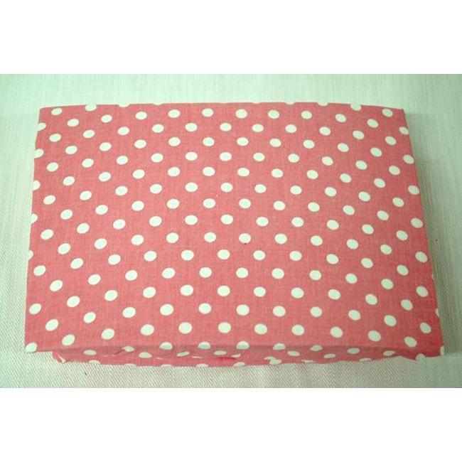 My Baby Sam Paisley Splash in Pink Fitted Crib Sheet