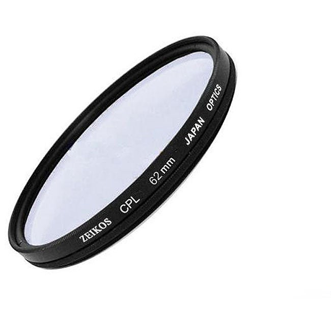Zeikos 62-mm Multicoated Circular Polarizer Glass Lens Filter