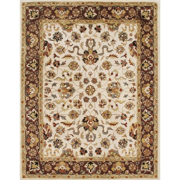 Alliyah Handmade Vanilla New Zealand Blend Wool Rug (8' x 10')