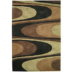Alliyah Handmade Brown New Zealand Blend Wool Rug (8' x 10')