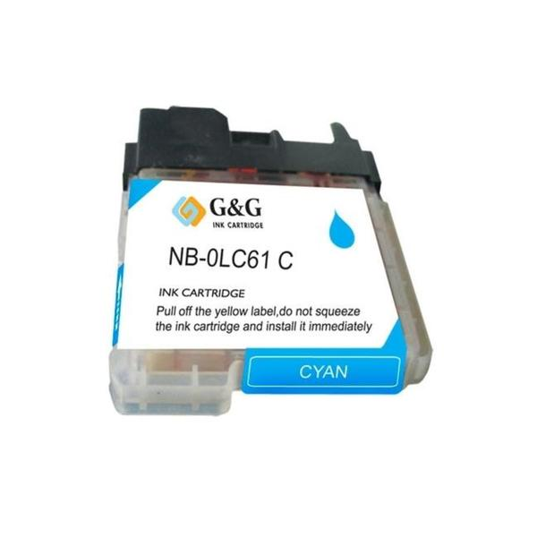 Brother LC61C/ LC65C Compatible Cyan Ink Cartridge