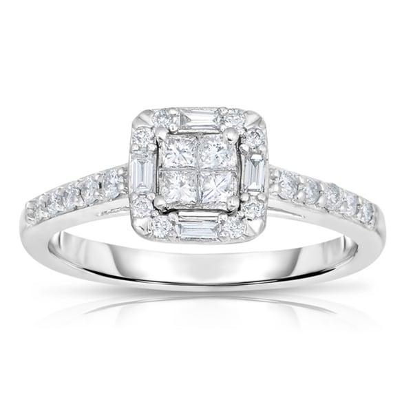 10k White Gold 1/2ct TDW Diamond Engagement Ring (G-H, SI1-SI2)