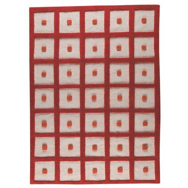 M.A.Trading Hand-woven Frame Orange Wool Rug - 4'6 x 6'6