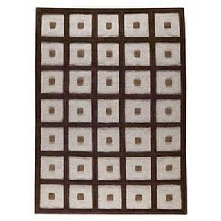 M.A.Trading Hand-woven Frame Brown Wool Rug (6'6 x 9'9)