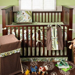 Paisley Splash Polka Dot Crib Sheet