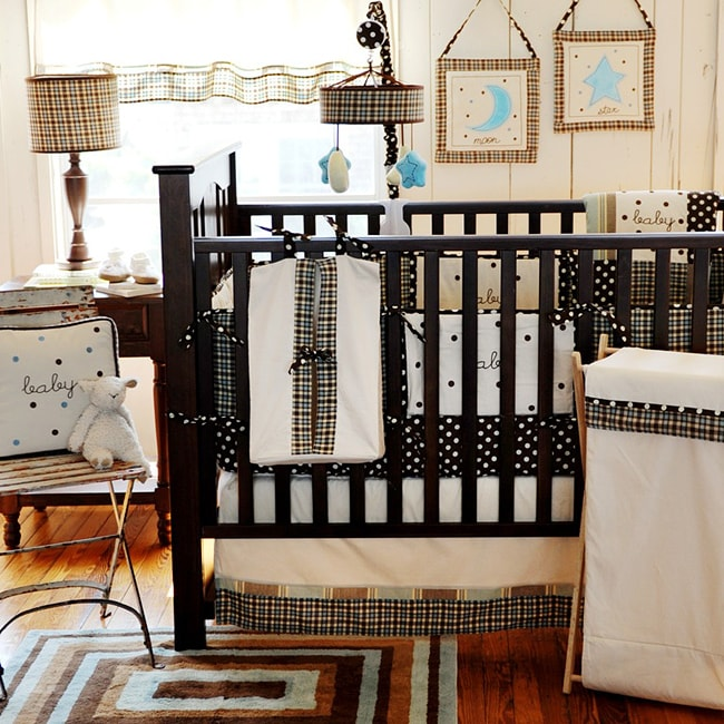 Shop My Baby Sam Mad About Plaid 4 Piece Crib Bedding Set