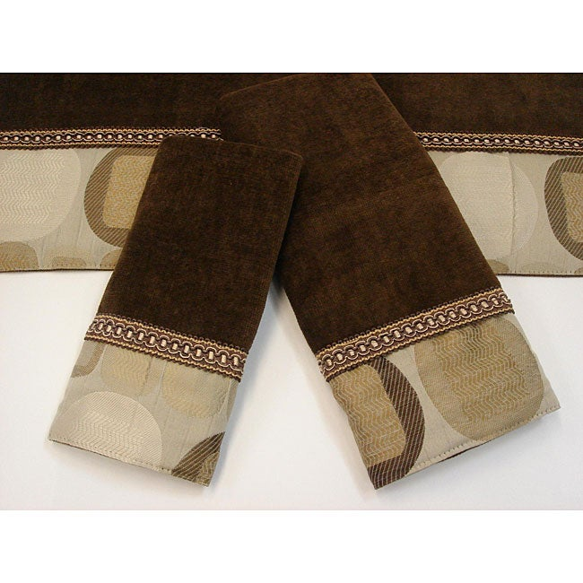 Sherry Kline Metro Taupe Decorative 3-piece Towel Set