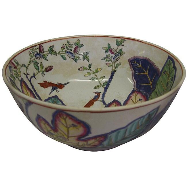 Porcelain Tobacco Leaf Bowl