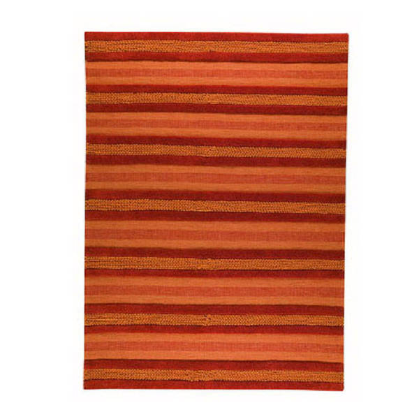 M.A.Trading Hand-woven Grenada Orange Wool Rug (5'6 x 7'10) (India)
