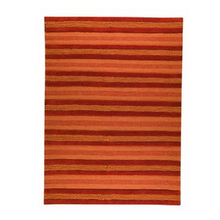 M.A.Trading Hand-woven Grenada Orange Wool Rug (5'6 x 7'10)