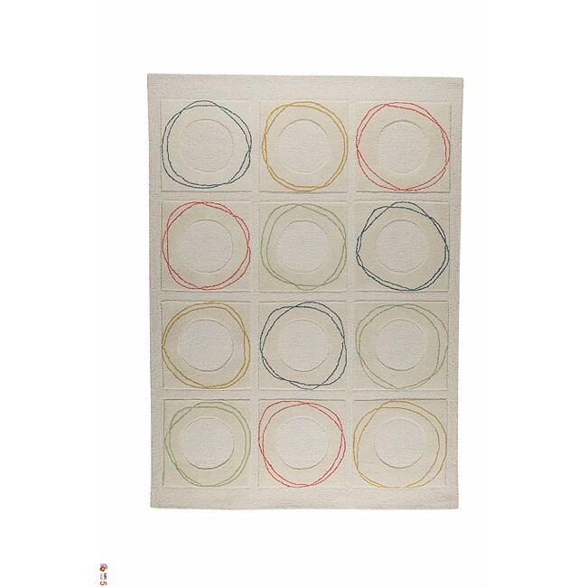 M.A.Trading Hand-tufted Helsinki White Wool Rug (5'6 x 7'10)
