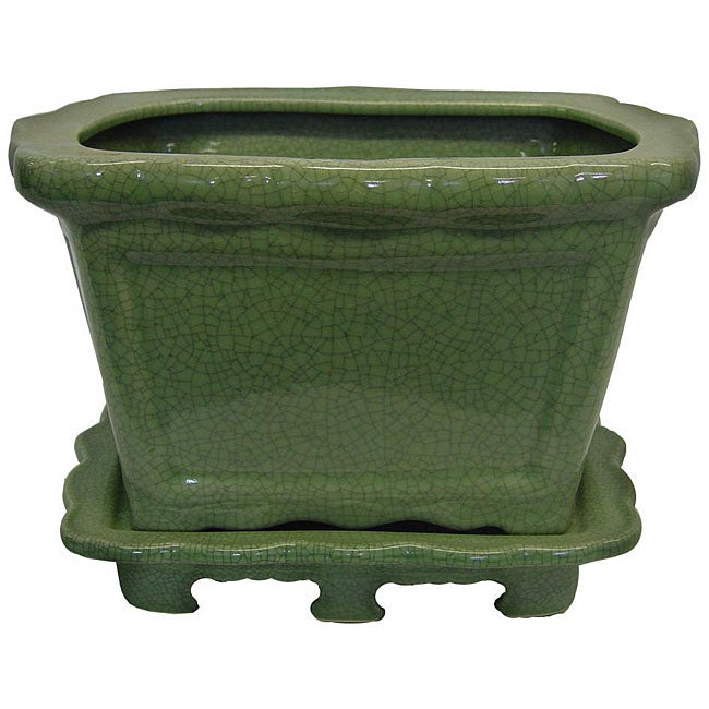 Porcelain Green Planter