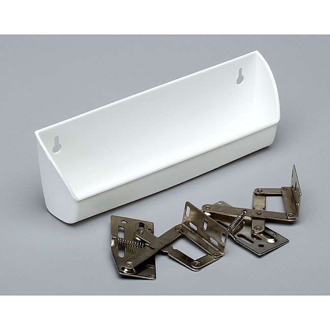 White 11-inch Sink Tip-Out Trays (Pack of 2)