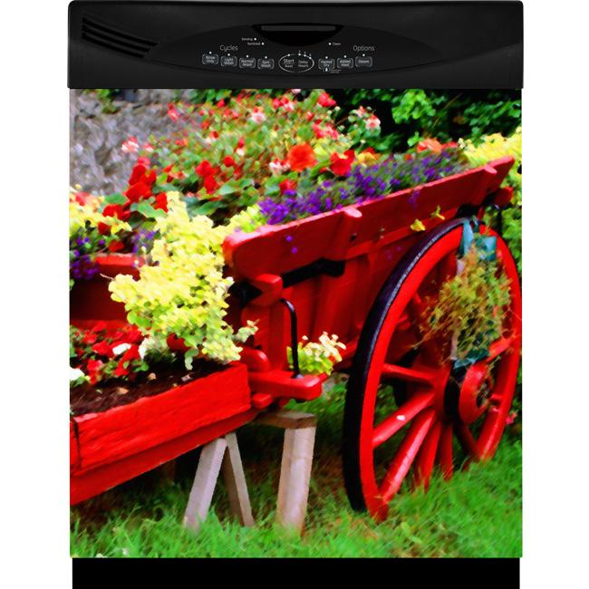 Appliance Art Flower Cart Dishwasher Cover - Thumbnail 0