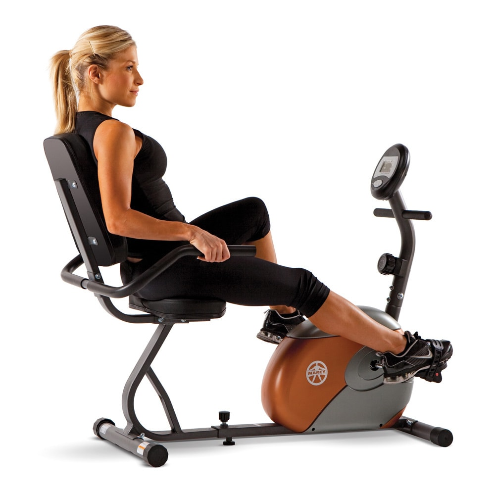 Marcy Recumbent Bike, Black