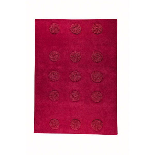 M.A.Trading Hand-tufted Malmo Red Wool Rug (5'6 x 7'10) (India)