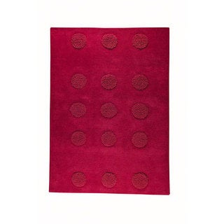 M.A.Trading Hand-tufted Malmo Red Wool Rug (5'6 x 7'10)