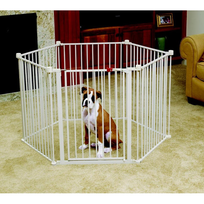 Carlson Convertible Pet Yard Exercise Pen, Beige, Size 24''