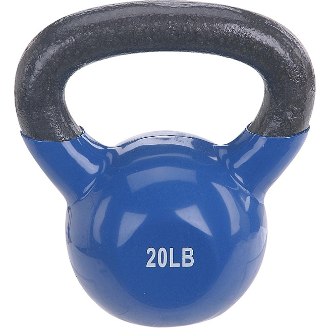 Sunny Vinyl Coated 20-pound Kettle Bell - Thumbnail 0