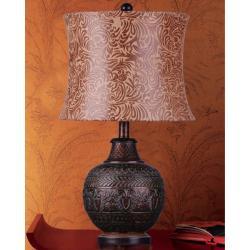 Antique Bronze Floral Table Lamp