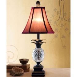 Cut Glass Resin Pineapple Table Lamp
