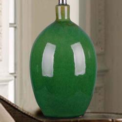 1-light Green Ceramic Table Lamp - Thumbnail 2