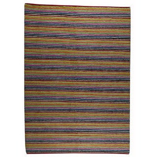 M.A.Trading Hand-knotted Indo-tibetan Manchester Wool Rug (5'6 x 7'10)