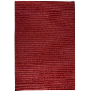 M.A.Trading Hand-knotted Indo-tibetan Manchester Red Wool Rug (3' x 5'4)