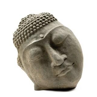Handmade Stone Buddha Face Statue (Indonesia)