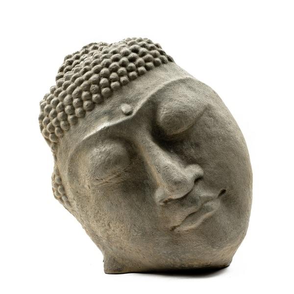 Handmade Stone Buddha Face Statue