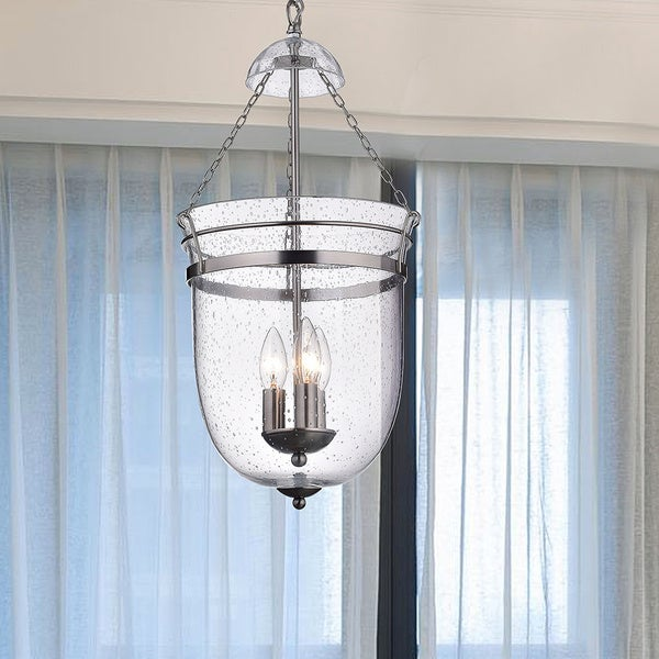 Nickel 3-light Lantern Chandelier