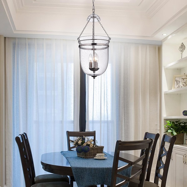 Nickel 3 Light Lantern Chandelier   Free Shipping Today   Overstock.com    12967754