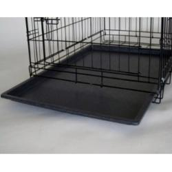 Go Pet Club Black 48-inch 2-door Dog Collapsible Folding Crate - Thumbnail 2
